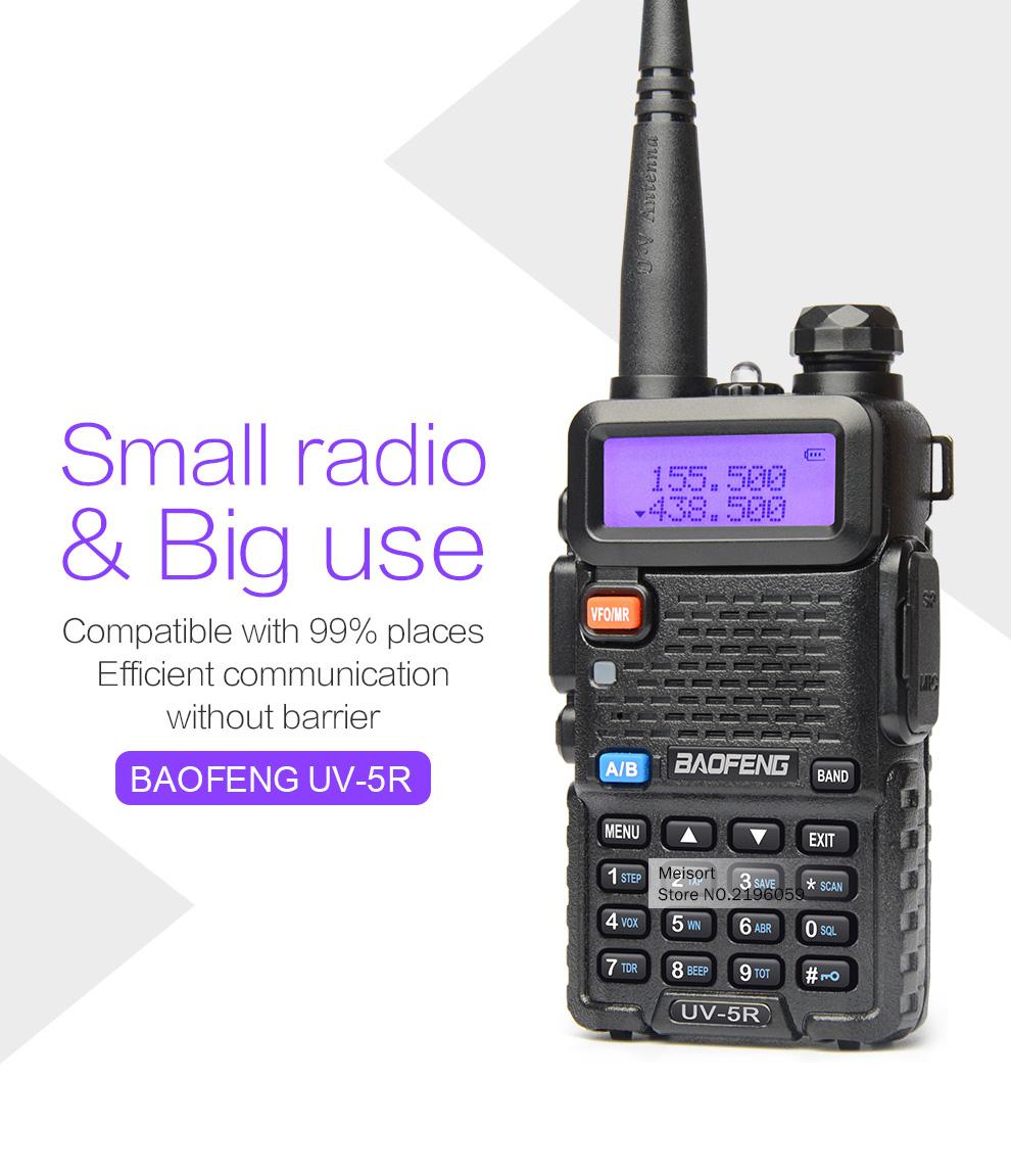 2 шт. Баофэн uv5r портативной рации двухдиапазонный укв/uhf136-174 МГц и 400-520 мгц портативный CB и любительское радио comunicador фио кв трансивер в BF-uv5r