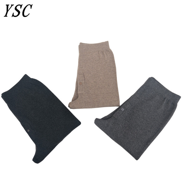 05c3a892f843f YUNSHUCLOSET New style Men 's Cashmere Wool Warm Pants Knitted Long Johns  Spandex Tights trousers Underwear Sexy Free Shipping 1