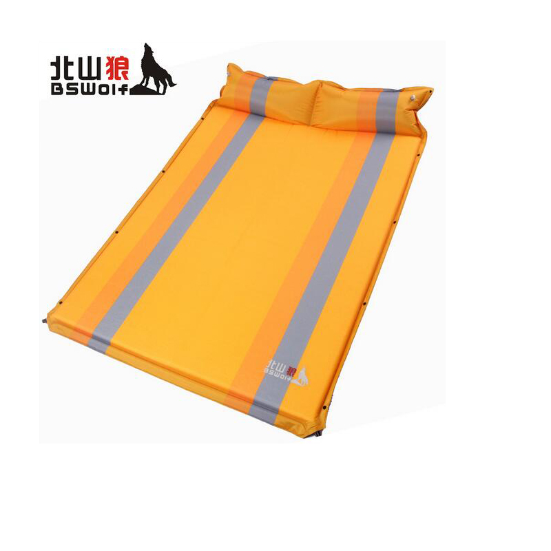 где купить  Outdoor Self Inflatable Mattress Camping Sleeping Pad Beach Mats Waterproof Folding PVC Double Air Mattress Tent Air Bed Mat  дешево