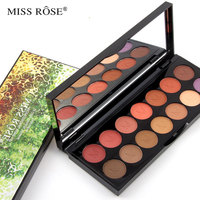 Miss Rose Brand 14 Colors Smoky Matte Earth Eyeshadow Palette Makeup Set With Mirror Professional Cosmetic