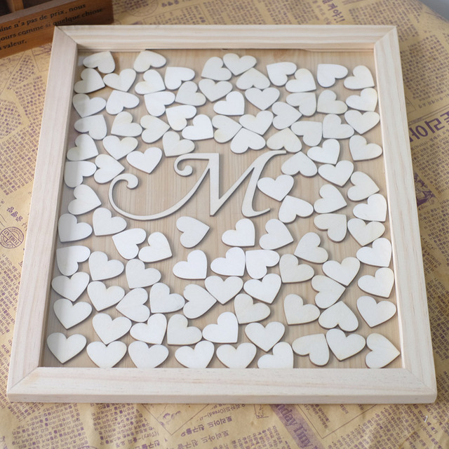 Aliexpress.com : Buy Personalized Wedding Guest book Frame with ...