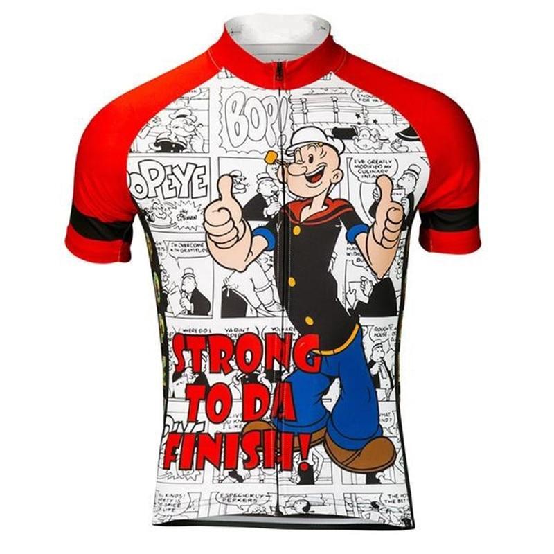 Popeye 2018 Cycling Jerseys Shirt Men Summer Short Sleeves Ropa Ciclismo Maillot Bicycle MTB Bike Clothing Sports Quick-Dry