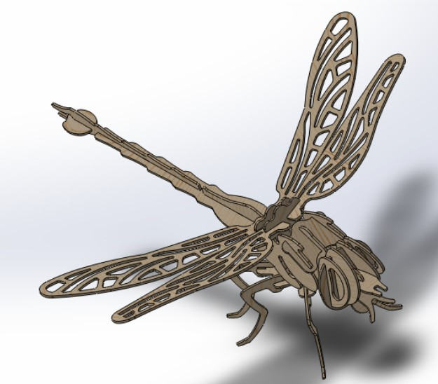 Dragonfly CAD DWG Drawing File For Cnc Cutting