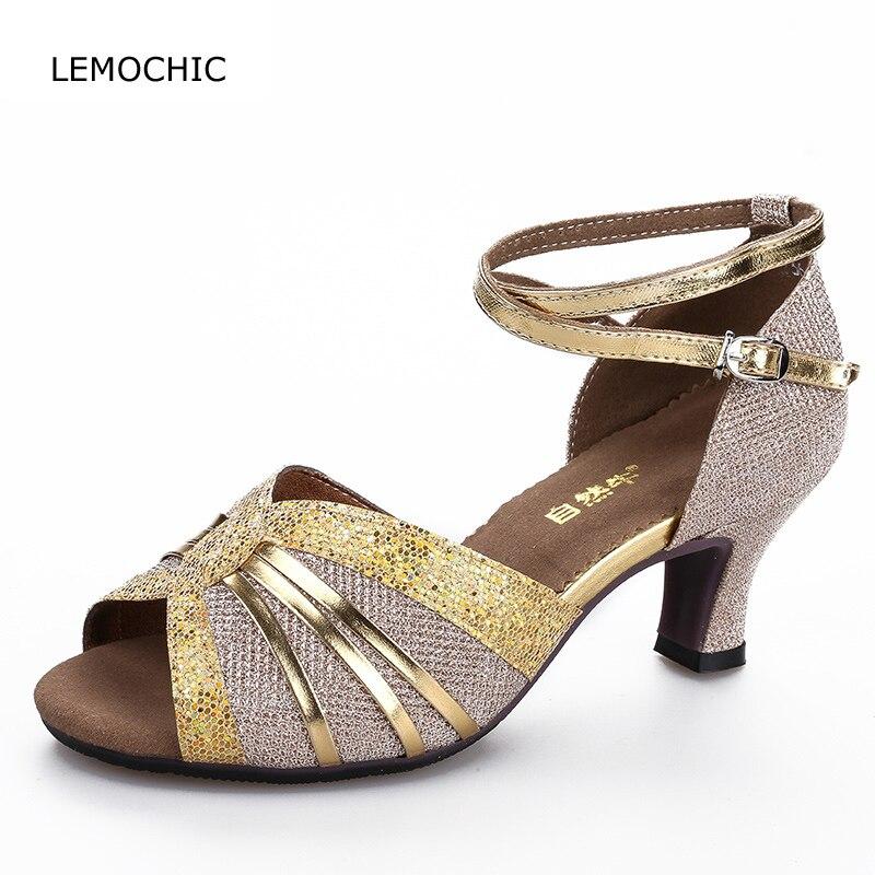 Lemochic clásica modelos femeninos Latin Tango Samba cha-cha dos stpes  vientre buena calidad conveniente f92490ee3550