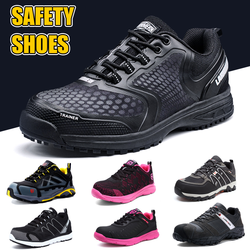 Men's Safety Shoes Steel Toe Working Shoes For Men And Women Puncture Proof Construction Shoes Work Boots