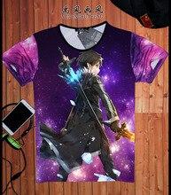 New Anime Sword Art Online T-shirts tees SAO t shirts Women Men Summer Casual tee shirts 3d t shirt camisetas masculina