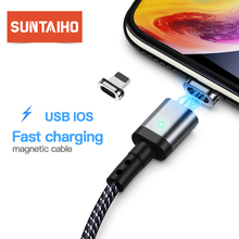 Suntaiho Magnetic Cable For iPhone XR XS Max X Quick Charger Cord Fast Data Cables For iPhone 8 7 Plus iPad Magnet Charger Cord