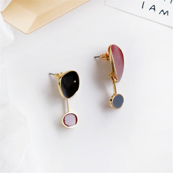 Contracted temperament new earrings bump color female  earrings irregular earrings earrings restoring ancient ways 2