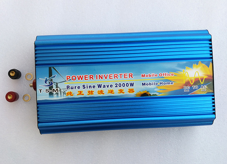 digital display 2000W pure sine wave inverter 12V/24V/48V DC to 110V/120V/220V AC solar power inverter