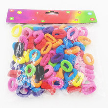 100 Pcs/pack Girls Adjustable Hair Ties Scrunchies Spandex Headwear Holder Band Rope Fabala Ponytail RFID Blocking Elastic(China)