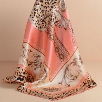 Сезон весна-лето женщины квадратных шелковый шарф печати шарф
