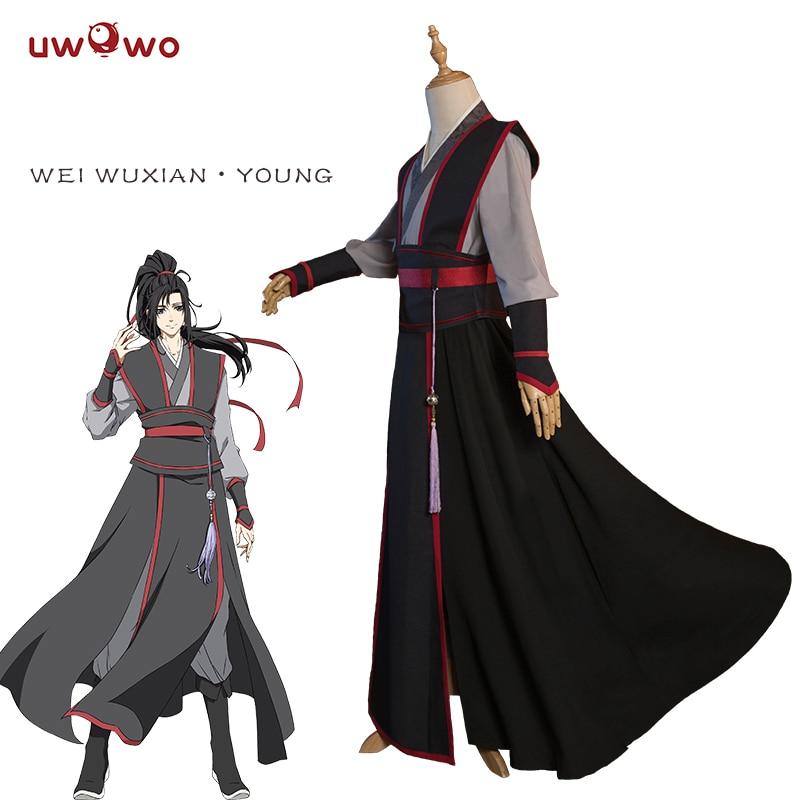 UWOWO Wei Wuxian Young Cosplay Grandmaster Of Demonic Cultivation Cosplay Costume Wei Wuxian Mo Dao Zu Shi Costume Men
