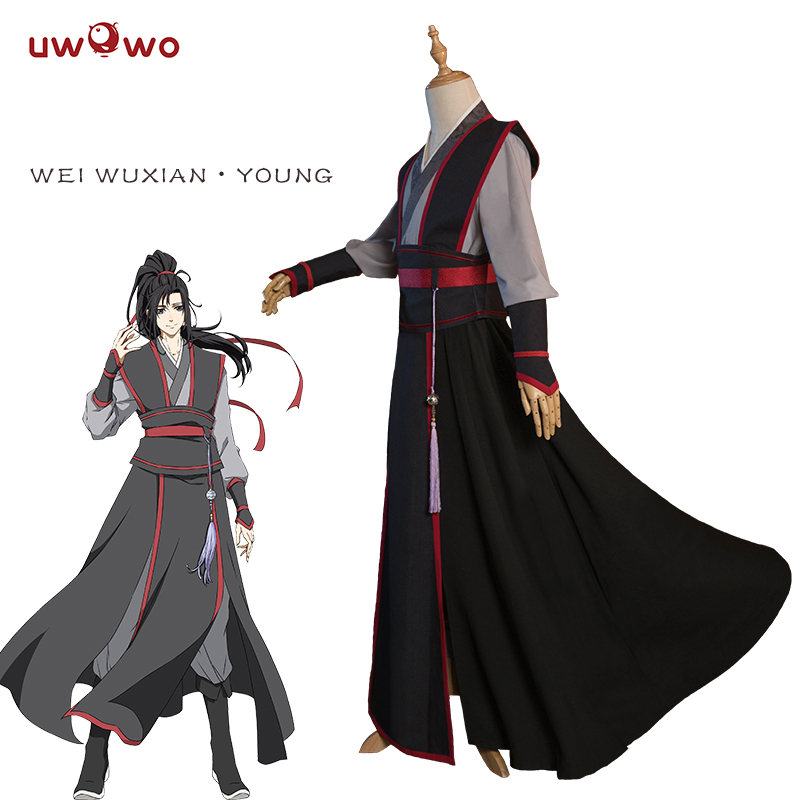 UWOWO Wei Wuxian Young Cosplay Grandmaster Of Demonic Cultivation Cosplay Costume Wei Wuxian Mo Dao Zu Shi Costume Men