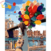 Digital Diy Oil Painting By Numbers Landscape Wall Decor Picture On Canvas Oil Paint Coloring By