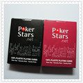 1 set Big size Poker Star Waterproof Plastic Playing Cards 63*88mm Wear-resisting Folding 54 Cards Big Word Matting Board Game
