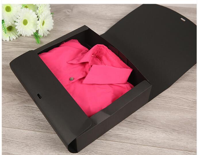 31 25 5 8cm large white paper gift box pack black kraft. Black Bedroom Furniture Sets. Home Design Ideas