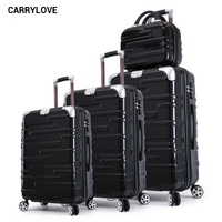 CARRYLOVE fashion luggage series 20/24/28 inch PC Handbag and Rolling Luggage Spinner brand Travel Suitcase