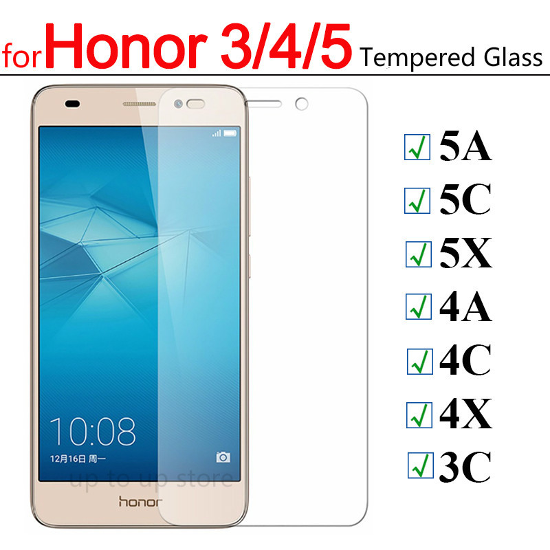 Protective Glass On For Huawei Honor 5a 5c 5x Tempered Glass For Honor 4a 4c 4x 5 4 A C X A5 Screen Protector Verre Tremp Case