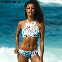 RXRXCOCO Newest Bikini Swimwear Women Swimsuit Bikinis Set Bathing Suit Push Up Bandage Biquinis Women 2017