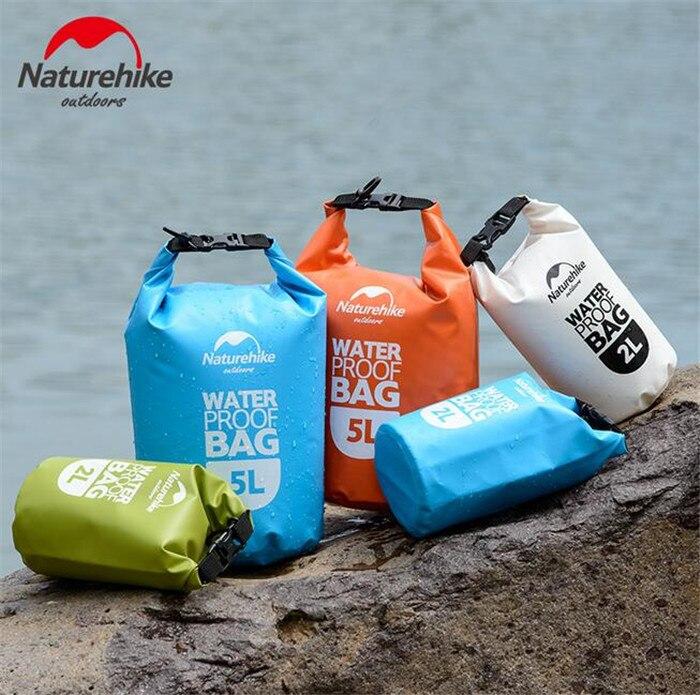 Naturehike 2L 5L 15L Dry Drifting Bag Waterproof Backpack Canoe Kayak Rafting Floating Storage Bags Folding Boating Travel Kit