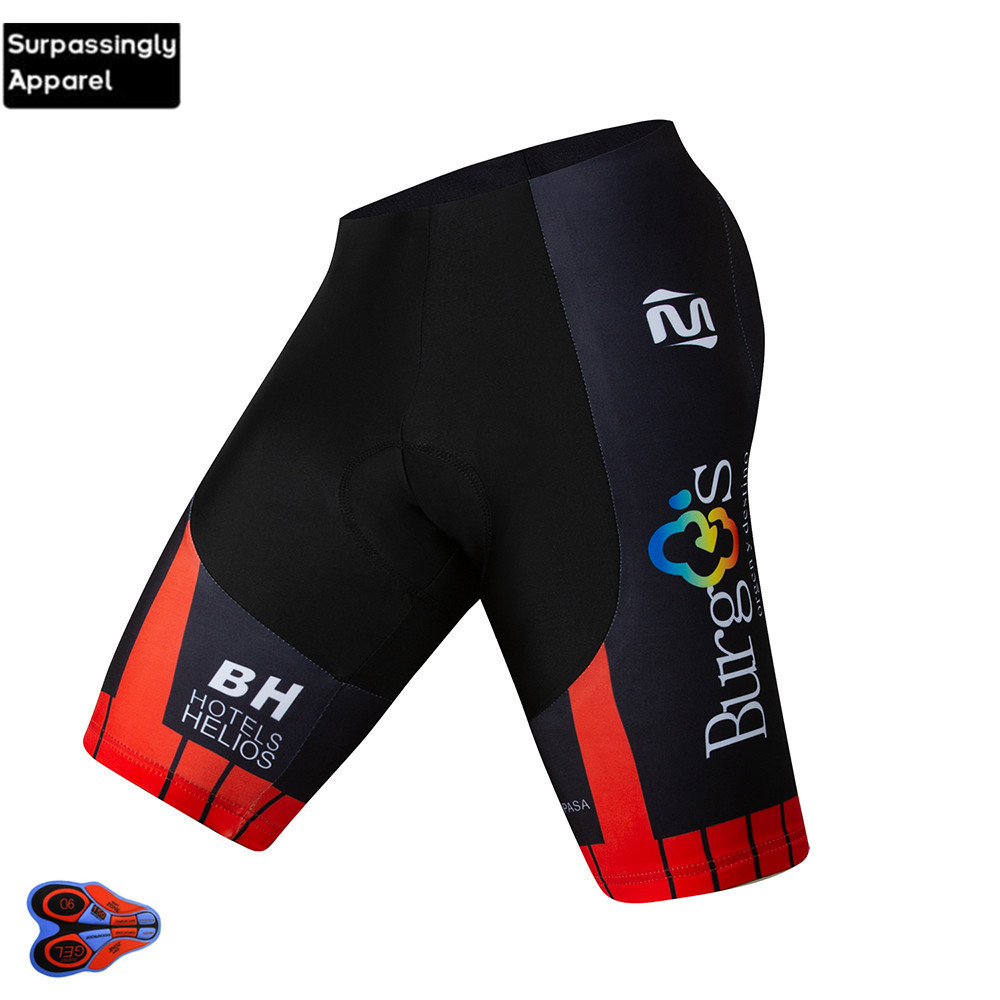 2019 Pro UCI Team Burg Summer Mens Cycling <font><b>Bib</b></font> <font><b>Short</b></font> 6XL 9D Gel Pad MTB Bike Riding <font><b>Shorts</b></font> Bicycle Cycling White/Black Pants image