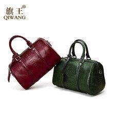 Luxury Boston Handbags Women Top-handle Bags Black Crocodile Pattern Leather Ladies Hand bags 2019 Shoulder bag bolsa feminina