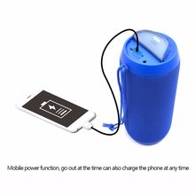 Outdoor Portable Bluetooth Speaker TF Card Music Player Waterproof Power Bank Support 1+1 Wireless Serial Function with Charger(China)