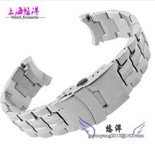22 mm excelente importada de acero inoxidable reloj de pulsera moda hebilla y correa