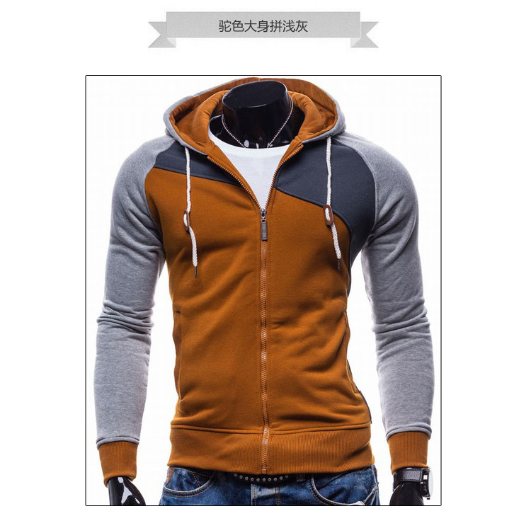 17 Hoodies Men Sudaderas Hombre Hip Hop Mens Brand Leisure Zipper Jacket Hoodie Sweatshirt Slim Fit Men Hoody XXL 9