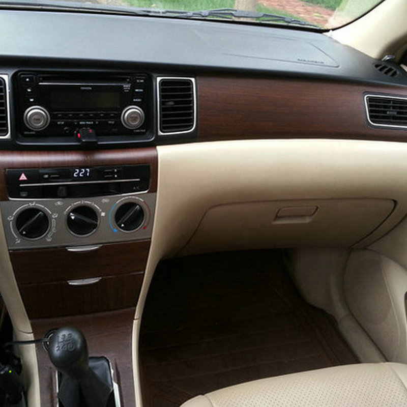 Wood Grain Vinyl Wrap Interior