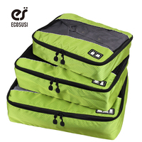 Ecosusi Nylon Packing Cube Travel Bag System Durable 3 Piece Men S Travel Bags Weekender Set