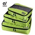 Ecosusi sistema de embalaje cubo bolsa de viaje de nylon durable 3 unidades de los hombres bolsas de viaje weekender establecen bolsa de almacenamiento de bolsa organizador