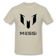New design 2017 Brand Summer MESSI T shirt Men Barcelona MESSI T-Shirt MESSI tshirt homme male Swag Tops Tee Adult Fans Shirt(China)