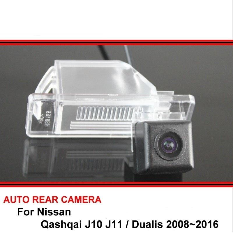Автомобильная камера заднего вида для Nissan Qashqai J10 J11 Dualis 2008 ~ 2016, задняя камера заднего вида с функцией ночного видения, HD CCD