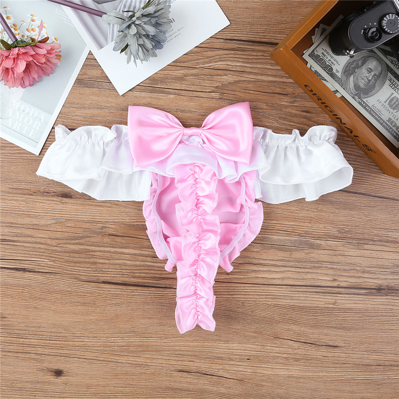 Icy Blue Shiny Hot Pink Satin Wetlook Soft Sissy Full Cut Bikinis Panty M L XL