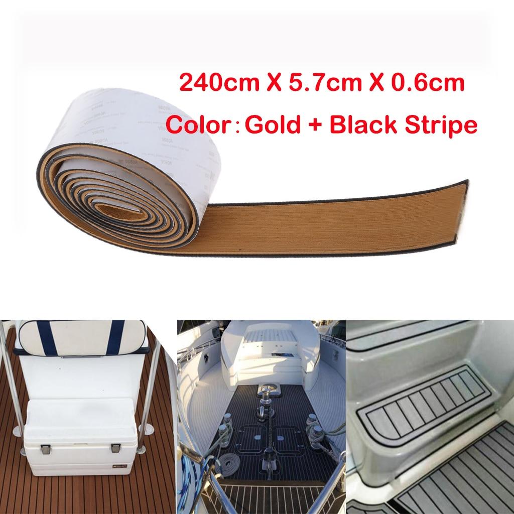 1 Piece Boat Flooring Sheet EVA Faux Teak Decking Sheet Marine Yacht Boat Tape Non-Slip Boat Flooring Decking Pad Decorate Boat