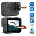Vidro temperado para gopro hero 5 hero5 ação preto acessórios de vídeo lente da câmera protetor de tela lcd película protetora