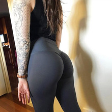 New High Waist Leggings Women Fitness Clothes Slim Ruched Bodybuilding Womens Pants Athleisure Female Sexy Leggings cheap BlackArachnia 7199 Ankle-Length STANDARD Knitted Casual Nylon Polyester Spandex Acrylic Solid