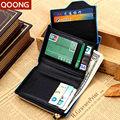 2016 Business Men Leather Wallets Coin Purse Holders Male Money Bag Pouch Zipper Design Credit Bank Card Holder Carteras Ml1-020