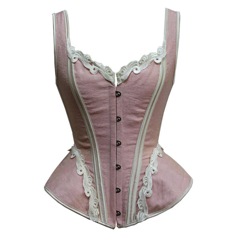 3be34f31d9 Sladuo Pink Jacquard Straps Overbust Corsets And Bustiers Waist Trainer  Shaper Body Gothic Steampunk Clothing Corselet