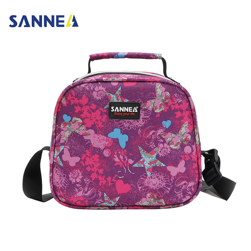 SANNE 6L Children LunchBox Lunch Bag Insulated <font><b>Cooler</b></font> Tote Butterfly Picnic Bags for Kids Thermo <font><b>Cooler</b></font> Thermal Food Package