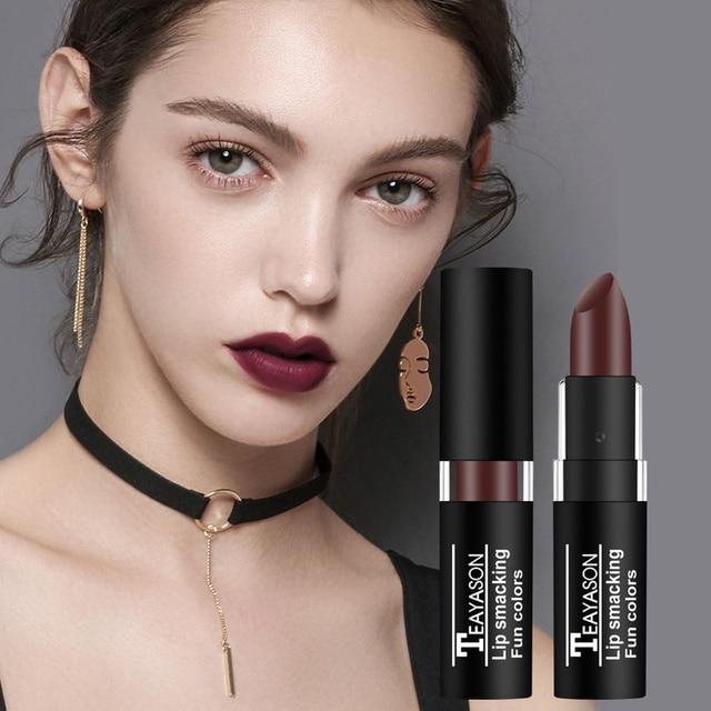 TEAYASON 12 Color Nude Matte Liquid Lipstick Moisturizer Lip Gloss Easy To Wear Makeup Lip Balm Batom Cosmetic TSLM1 1