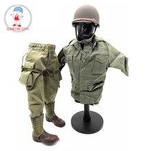 """1/6 skala Zweiten Weltkrieg UNS Männlichen Metall Helm Kugelsichere 101 fallschirmjäger Anzug für 12 """"Action Figure DIY Soldat zubehör"""