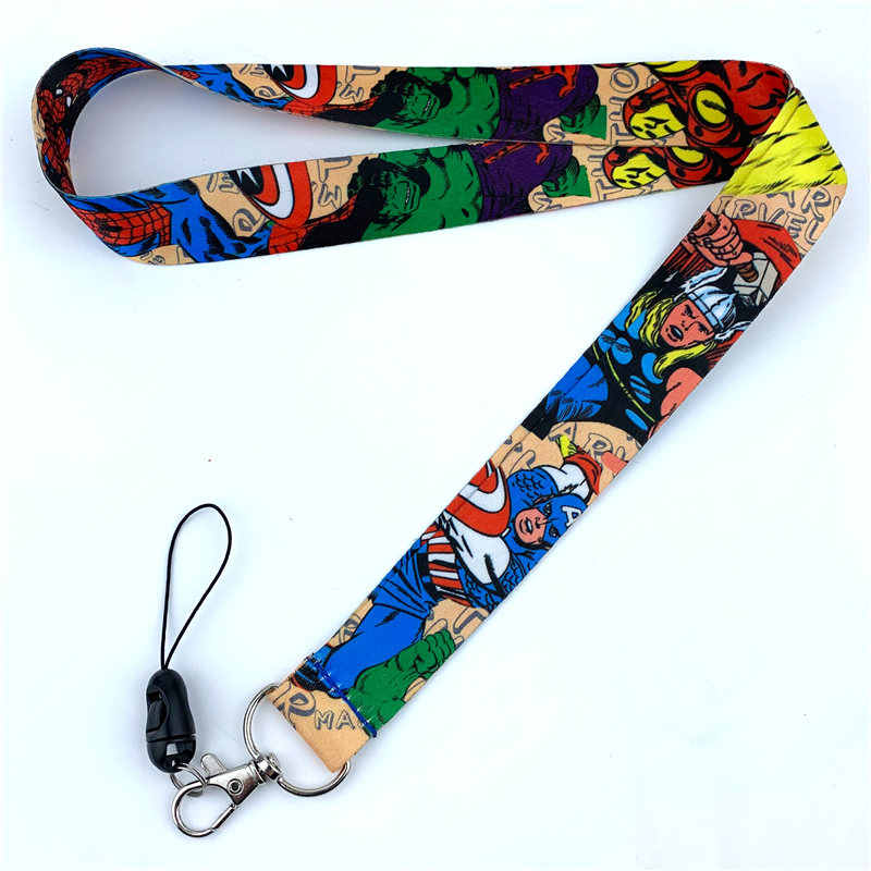 Комиксы супергероев серии Lanyards шеи ремень для ключей мобильного телефона ремни ID держатель Веревка косплей брелок для ключей, Подарочный 9025