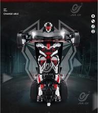 Nowy Qi Jia inteligentny samochód rc robot toy TT6602 2.4g głos polecenia sterowania jeden klucz odkształcenia pilot wyścigi samochodowe i robota zabawki