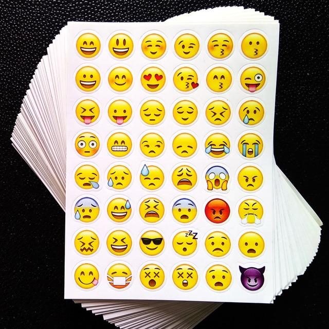 1 листов 3D наклейки 48 Emoji наклейки усмешки наклейки для ноутбуков, сообщение Twitter Большой Viny Instagram Улыбается игрушки