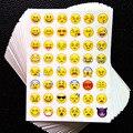 1 hoja de la etiqueta engomada 48 Emoji pegatinas pegatinas cara de la Sonrisa para el cuaderno, mensaje de Twitter Large Viny Instagram Sonriendo juguetes