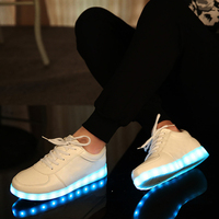 7 Colors Eur Size 27 37 Kid Luminous Sneakers Glowing USB Charge Girls LED Shoes With