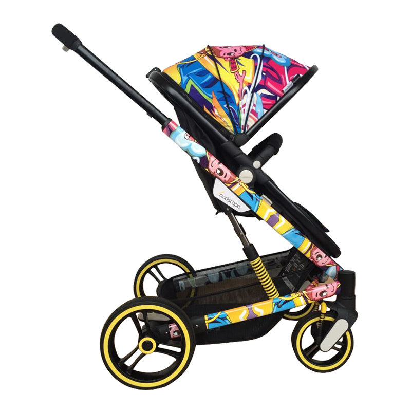 Uhababy baby stroller can sit and lie down to fold the shock absorber child trolley high landscape baby carriage