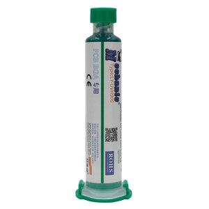 Image 4 - מכונאי 10ML ירוק UV מסכת הלחמה BGA PCB צבע למנוע מאכל קשתי הלחמה להדביק שטף PCB UV דיו רגיש